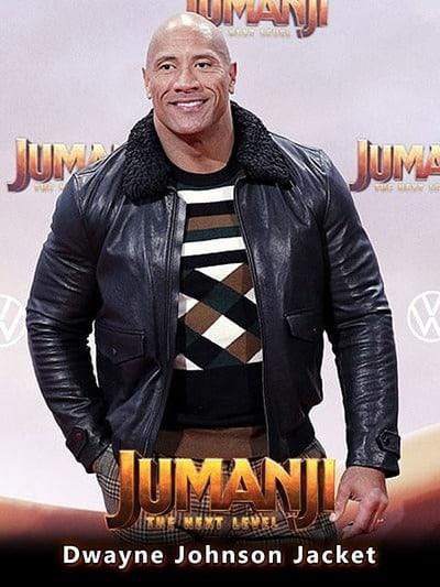 Jumanji The Next Level Premiere Dwayne Johnson Jacket