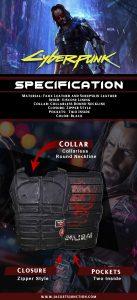 Johnny Silverhand Cyberpunk 2077 Vest infographic